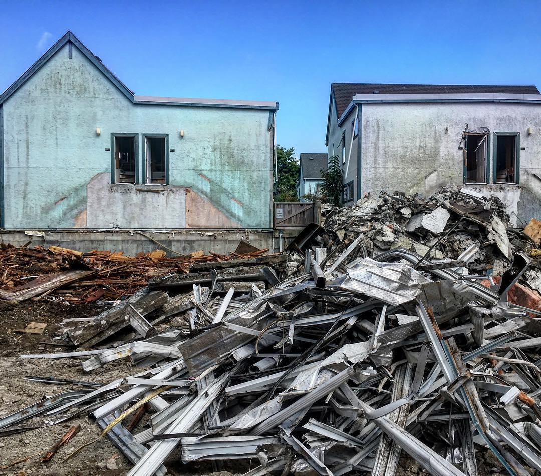 Deconstruction site, Vancouver