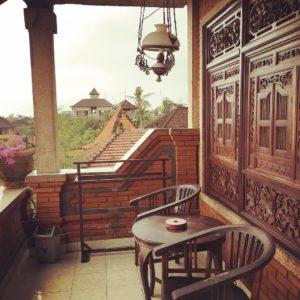 My balcony in Ubud, Bali