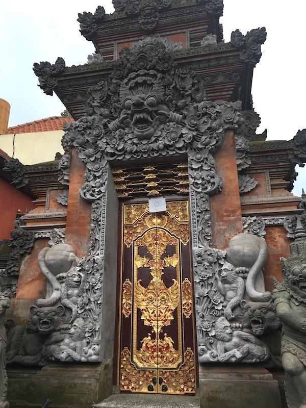 Carved archway, Ubud, Bali