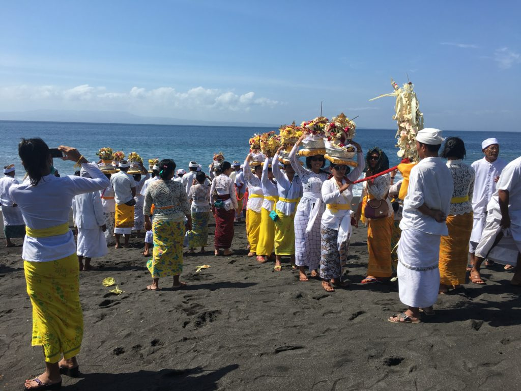 Ceremony at Goa Lawah, Bali