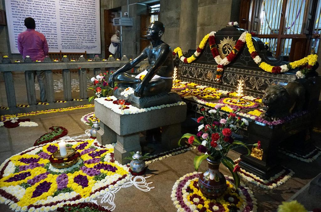 Flowers for Bhagavan's Jayanthi Day 2018, Sri Ramanasramam