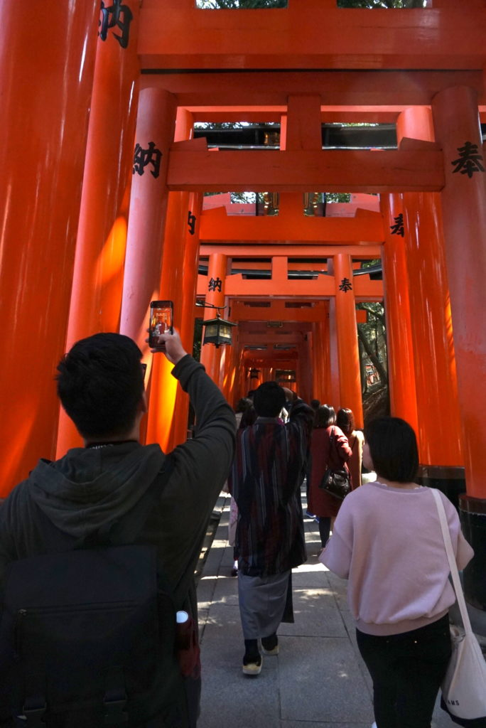 Tourists at Fushimi-Inari Shrine